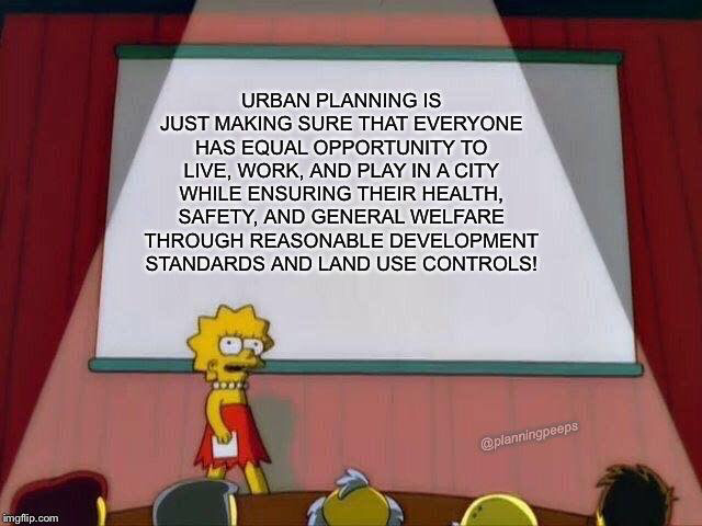 Urban planning meme Lisa Simpson
