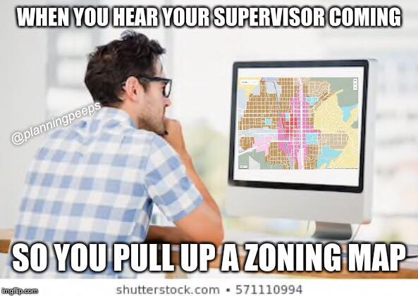 Urban planning meme zoning map